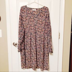 Vince Camuto Sheer Floral Shirt Dress